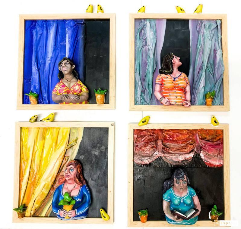 decoración cuadros pasta papel