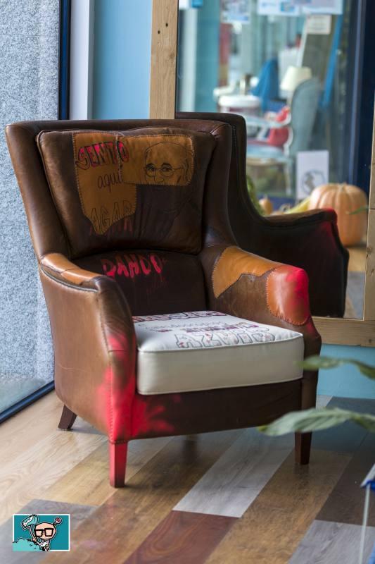 decoración sillon musas caleidoscopios