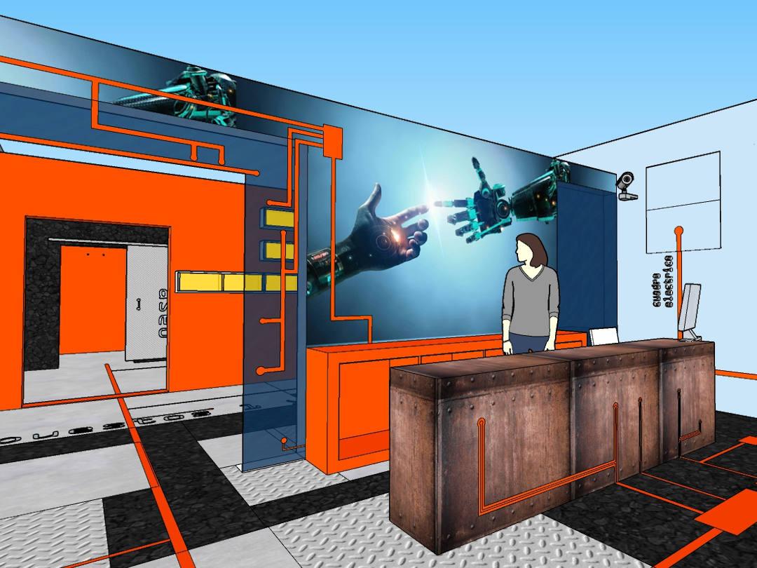 Decoración tienda de informática
